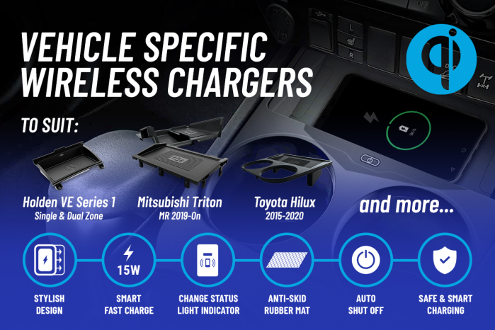 Featured item - Vehicle specific wireless chargers
